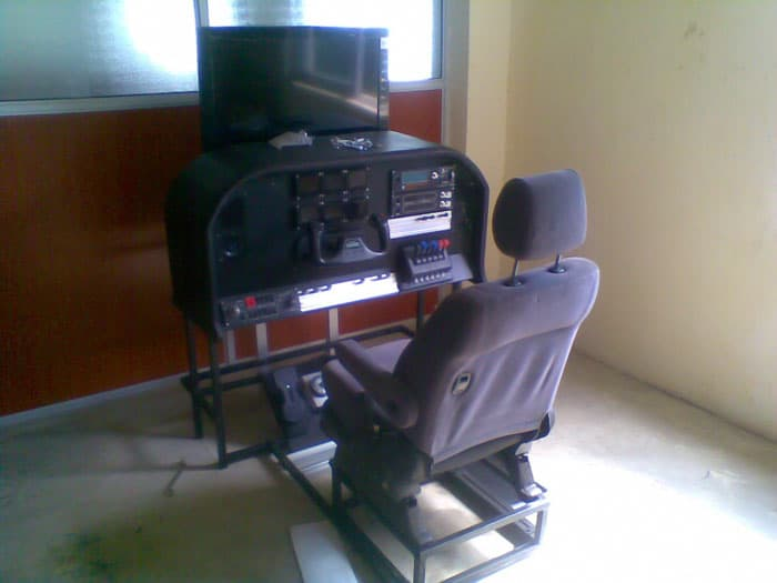Hand built flight simulator used for flight training in Kenya