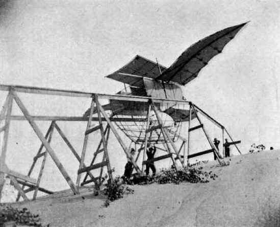 The Albatross glider tested by Octave Chanute and Augustus Herring