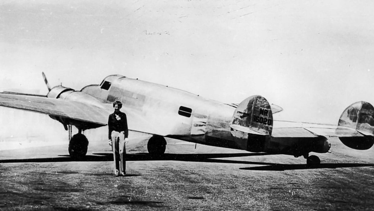 Amelia Earhart with her Lockheed Electra - Will New Expeditions Solve The Amelia Earhart Disappearance?