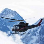 Bell 412EPI Helicopter in flight by Mount Everest