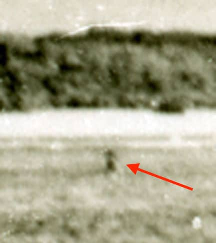 Blow up of the Bevington Photo, part of the evidence in the Amelia Earhart disappearance