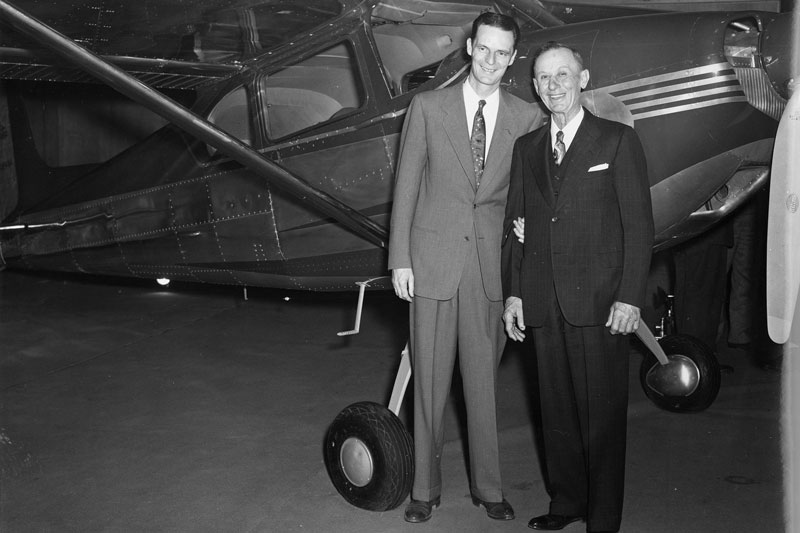 Clyde Cessna and Dwane wallace