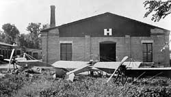 The first building where Clyde Cessna built aircraft.