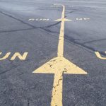 The run up area markers at a GA airport - FAA's New Airman Certification Standards Now In Effect