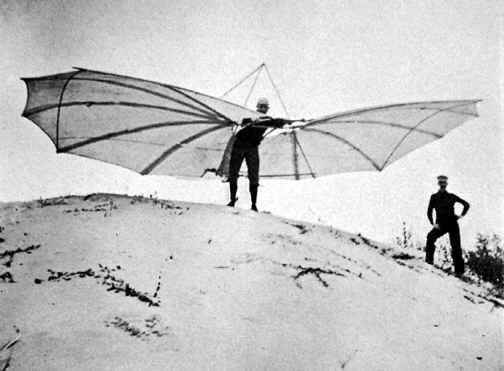 The modified Lilienthal glider tested by Octave Chanute and Augustus Herring