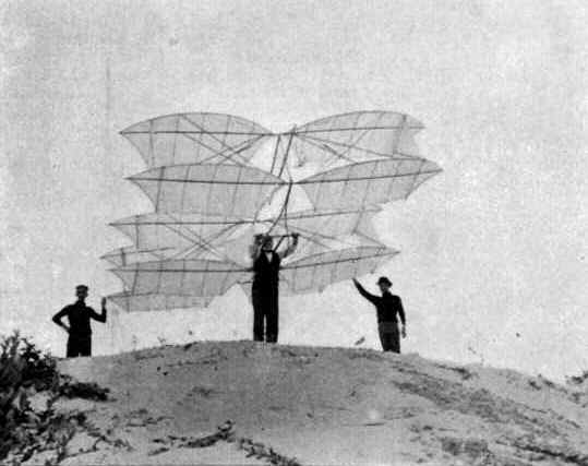 The multi-wing glider tested by Octave Chanute and Augustus Herring