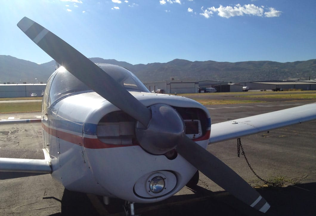 Personal aircraft at a GA airport - Flight Safety Foundation Explores ADS-B Benefits