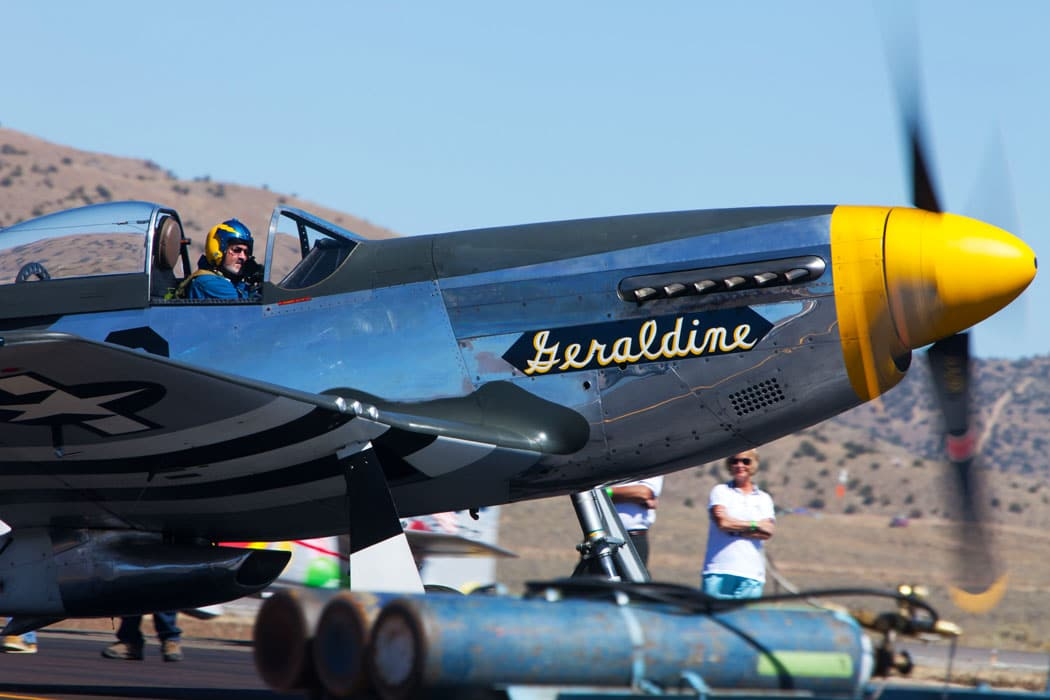 Reno Air Race pilots preparing for take-off