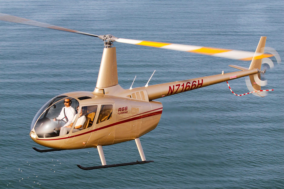 Robinson R66 Helicopter in flight