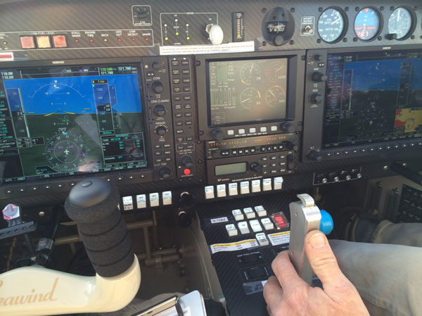 Avionics system on the Super Seawind aircraft