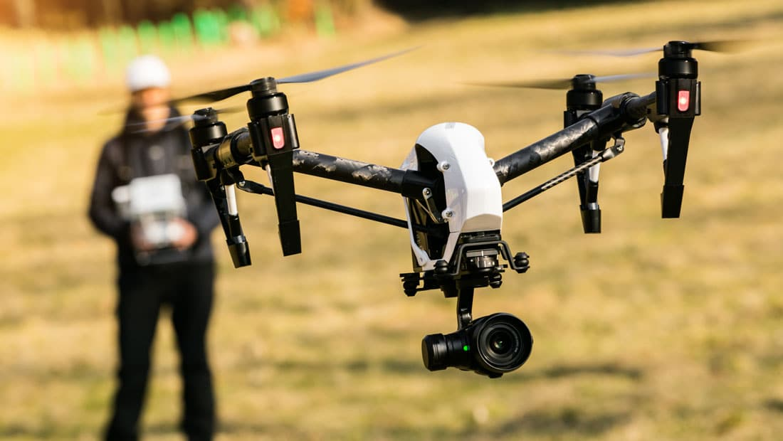 A drone taking off - The new FAA Small Drone rule goes into effect August 29, 2016.