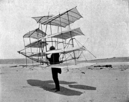 Redesigned multi-wing glider tested by Octave Chanute and Augustus Herring
