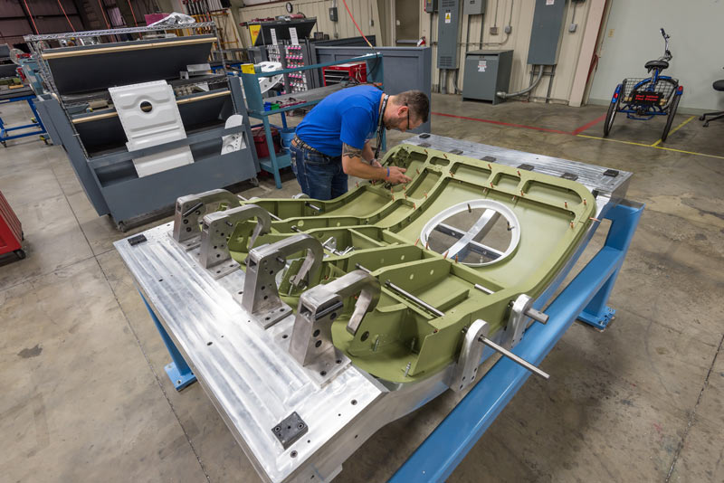 Cessna Denali aft cargo door test article being fabricated