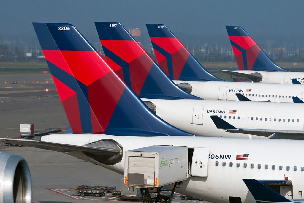 A Fleet of Delta Jetliners - Airline Pilot Shortage: What Changes Are the Airlines Making?