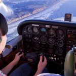 Female pilot flying a Cessna 172 Skyhawk - Women In Aviation Scholarship Applications Now Being Accepted