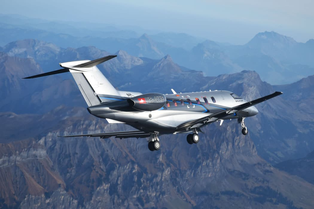 Pilatus Aircraft PC-24 in flight