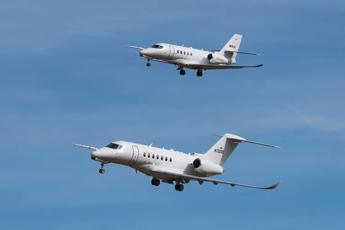 Third Cessna Citation Longitude test aircraft model takes flight