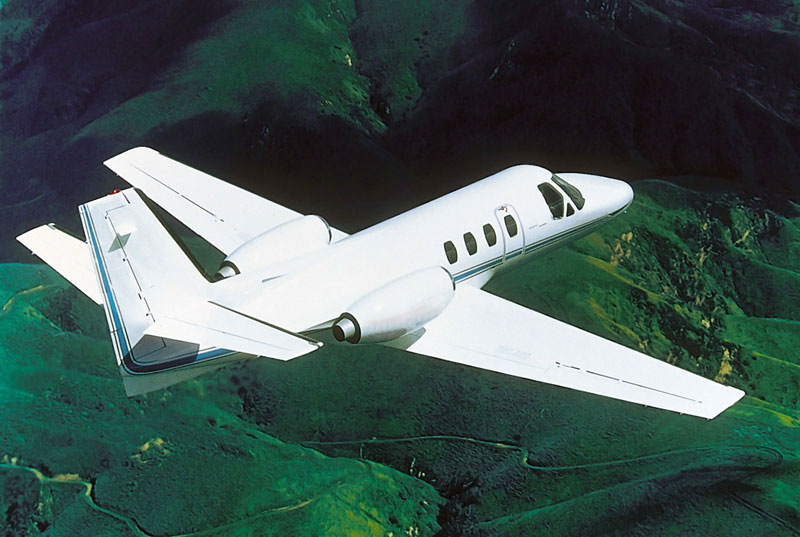 FanJen 500 / Cessna 500 in flight