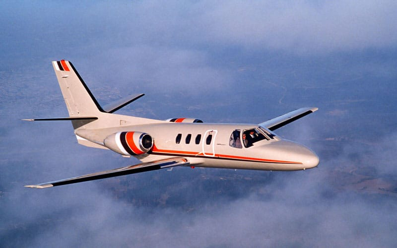 Cessna Citation I in flight