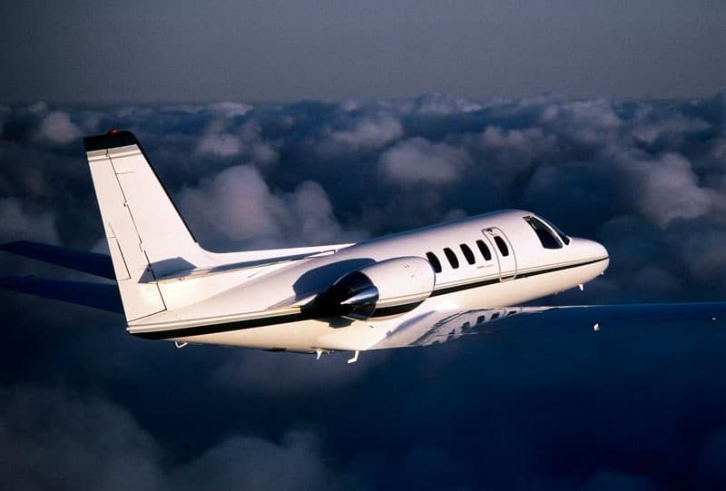Cessna Citation II in flight