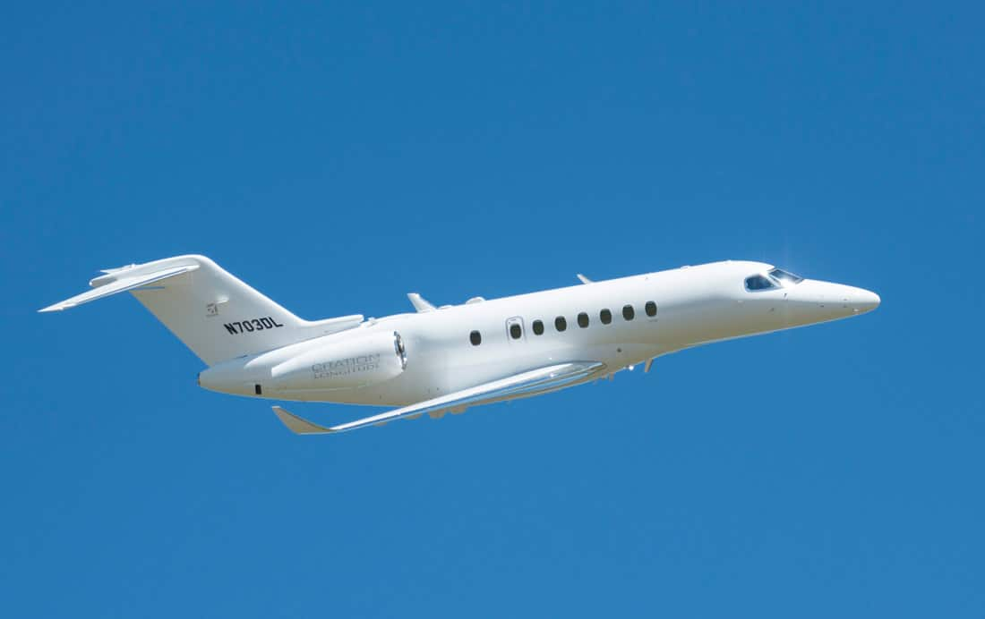 Fourth Cessna Citation Longitude test aircraft