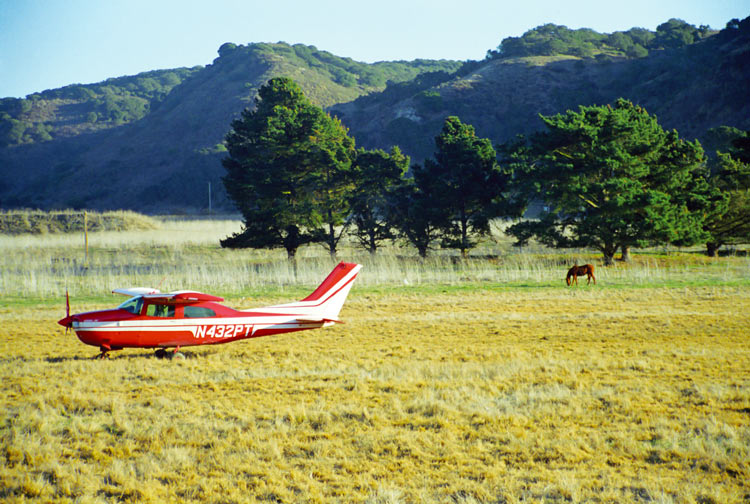 Aircraft landed in a field after an aircraft engine failure in flight