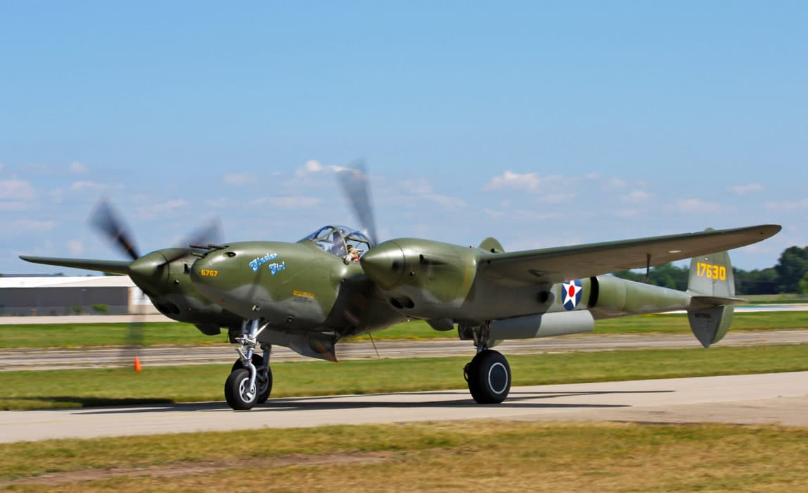 Restored P-38 Lightning Glacier Girl, part of The Lost Squadron