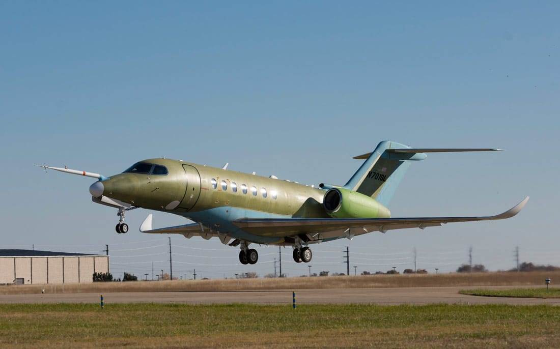 Second Cessna Citation Longitude taking flight