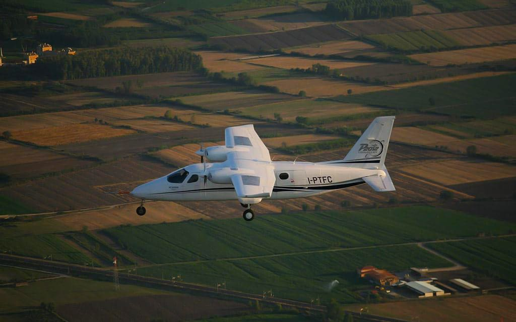 Image from the Tecnam P2012 Traveller's first flight