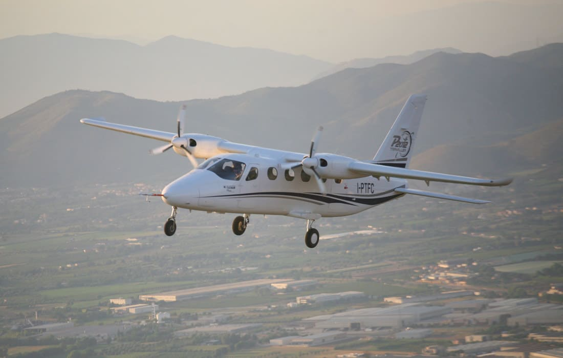 Tecnam P2012 Traveller in flight