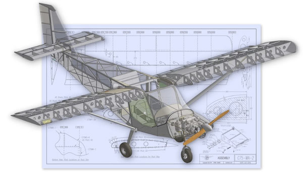 Plans for a Zenith Cruzer in Solidworks program - EAA, AV84All designing modified Zenith Cruzer for pilots with disabilites