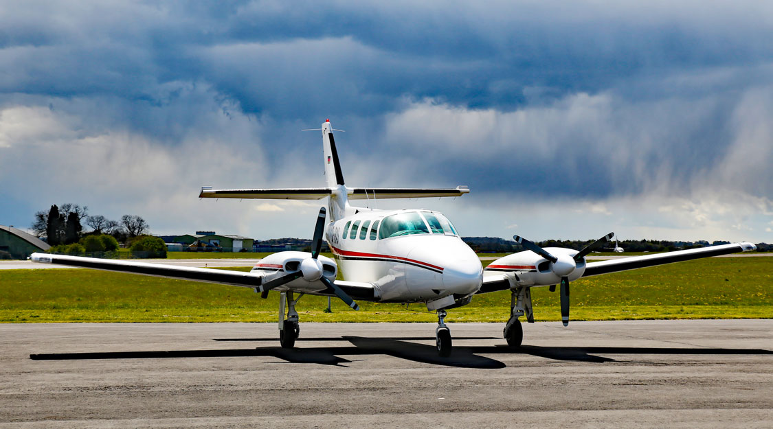 Cessna T303 Crusader on Runway