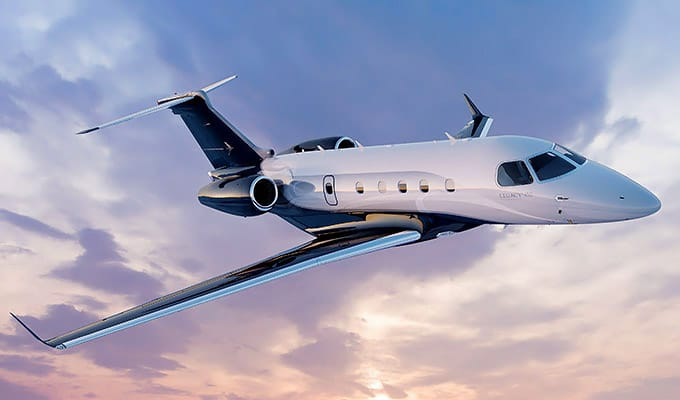 Embraer Legacy 450 in flight