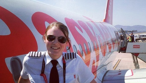 Kate McWilliams, easyJet pilot and possibly the world's youngest airline captain