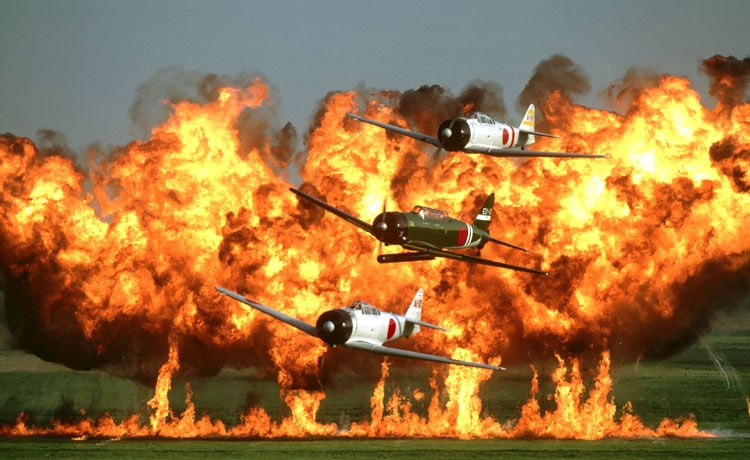 The 2016 CAF Wings Over Houston Airshow recreation of Tora! Tora! Tora!