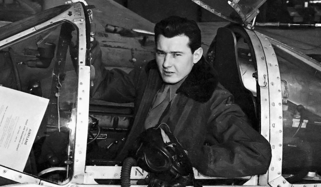 Test Pilot and aviator Bob Hoover in the military