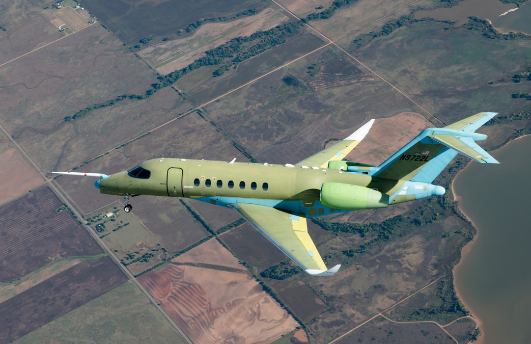 Cessna Citation Longitude during first test flight