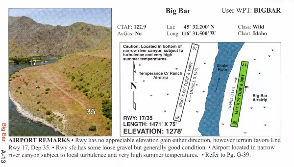 Galen Hanselman Big Bar Airstrip diagram
