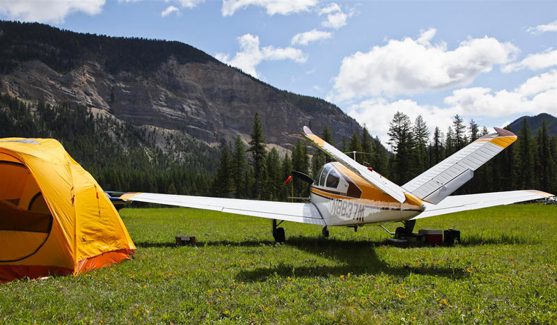 Backcountry flying and camping with a Beechcraft Bonanza
