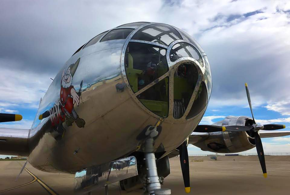 Restored B-29 Superfortress Doc before his second test flight