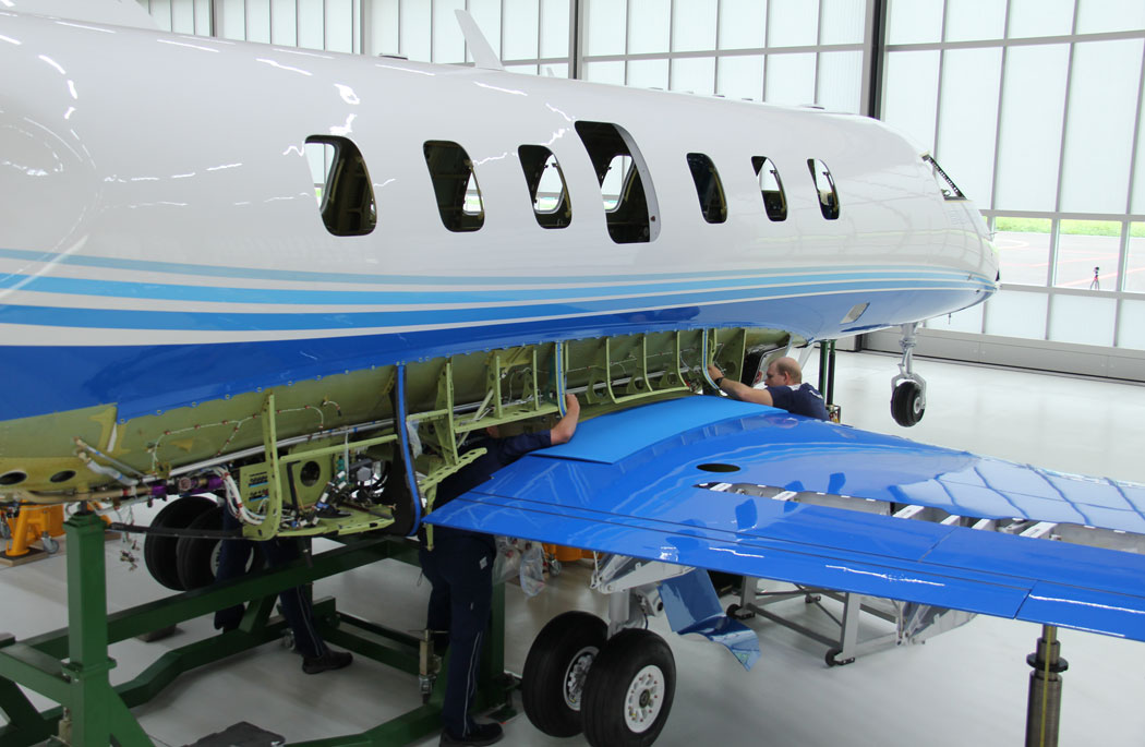 First Pilatus PC-24 Production Model Successfully 'Married'