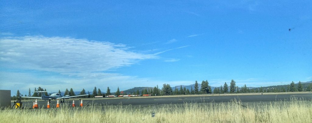 Afternoon on the Truckee-Tahoe Airport tarmac.