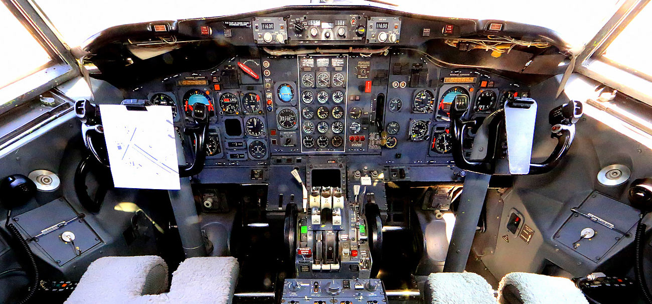 Cockpit of a Boeing 727 - My Path to Becoming a Pilot in Kenya