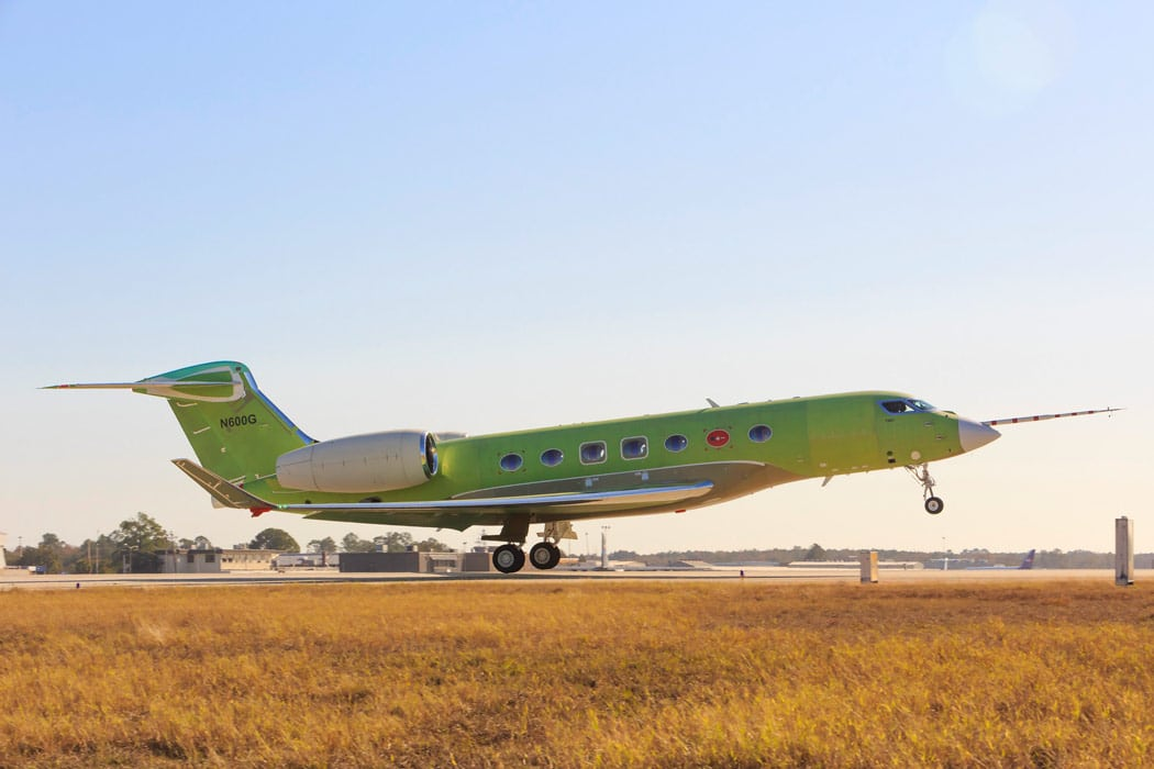 Gulfstream G600 aircraft during first test flight