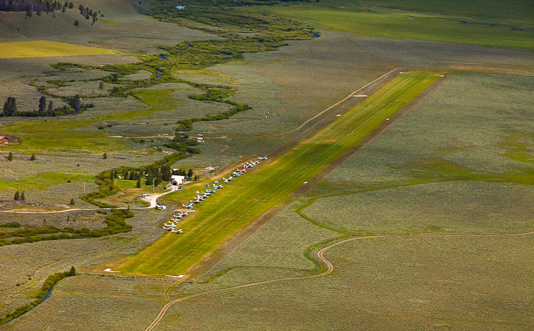 Smiley Creek in Idaho - Idaho Aviation Association Announces new Stuck 'n' Stay program.