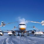 An airliner being de-iced - How a Holdover Time Calculator App Can Save Lives