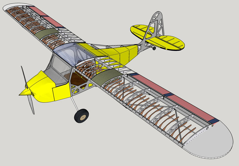 Belite Pipper aircraft kit, CAD Design