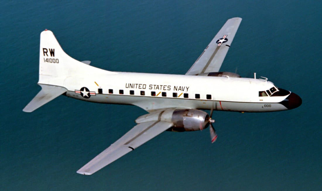 C-131F Samaritan in flight