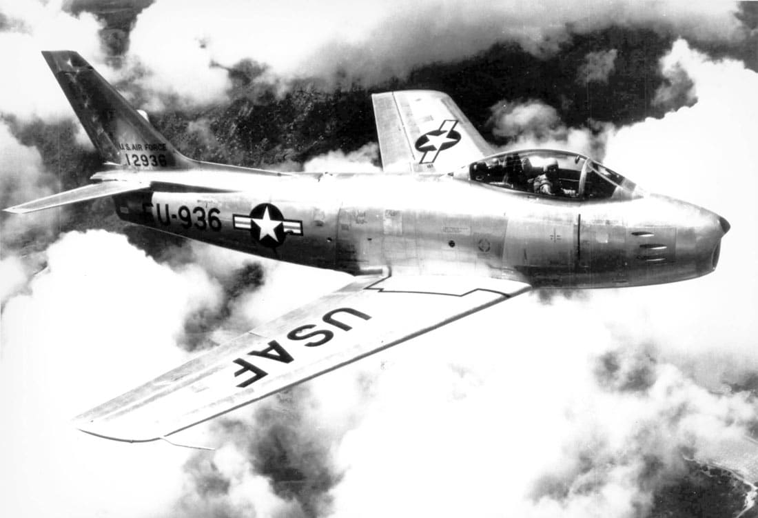 F-86A Sabre in flight