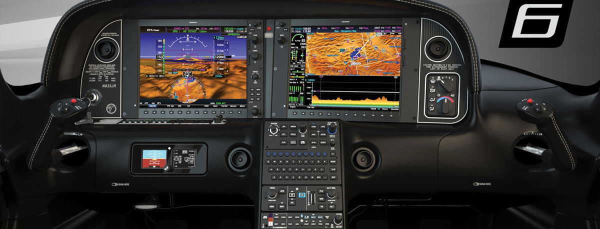 Cirrus Perspective+ flight deck in new Cirrus G6 models